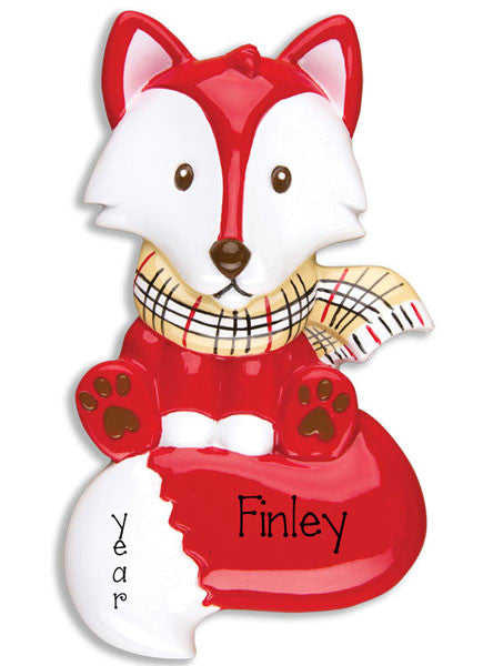 Red Fox, Personalized Christmas Ornament