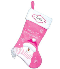 BABY GIRL 1ST CHRISTMAS cloth stocking/ personalized christmas stocking