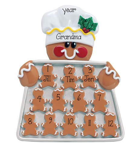 Gingerbread Grandma-Up to 12 Grandkids~Table Top Decor