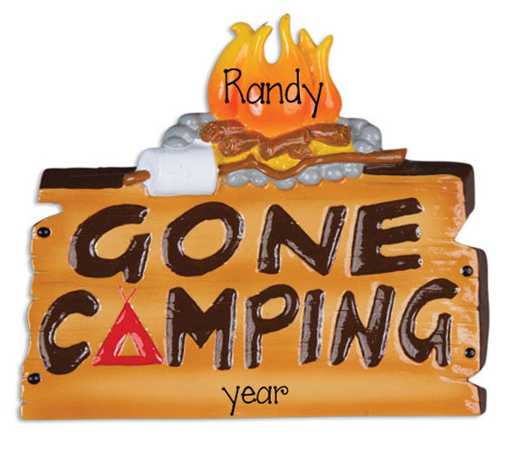 Gone Camping-Personalized Ornament