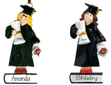 Female Graduate Blonde ~ Personalized Christmas Ornament - My Personalized Ornaments