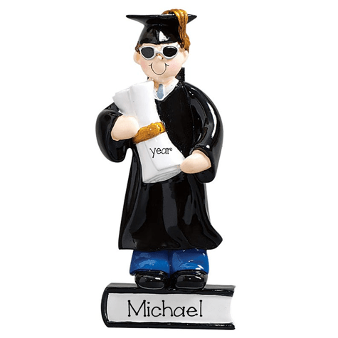 Male Graduate ~ Personalized Christmas Ornament