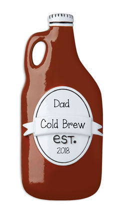 Growler of Craft Beer for Dad~Personalized Christmas Ornament