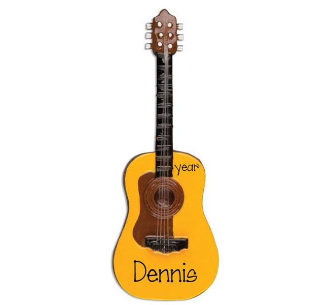 ACOUSTIC GUITAR, MY PERSONALIZED CHRISTMAS ORNAMENT