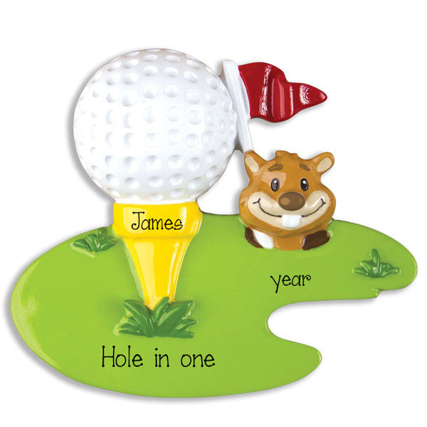Golf on the Green, Personalized Christmas Ornament