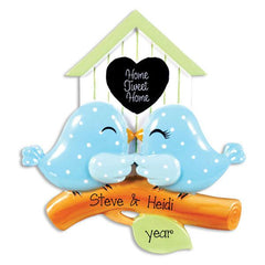 BIRDHOUSE COUPLE, MY PERSONALIZED ORNAMENTS