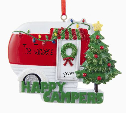 Vintage Camper Personalized Ornament