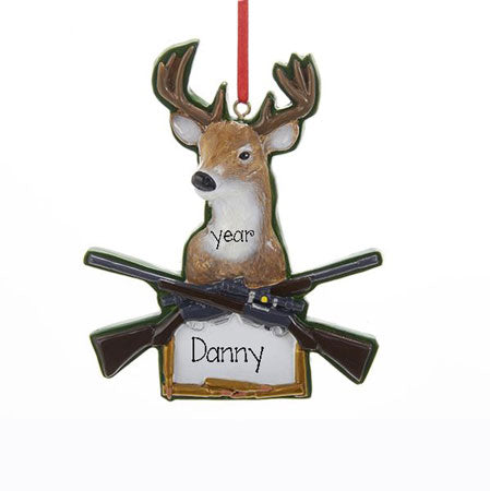 DEER w/ Antlers Personalized Ornament