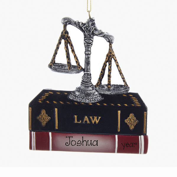 LAWYER with Books Personalized Ornament