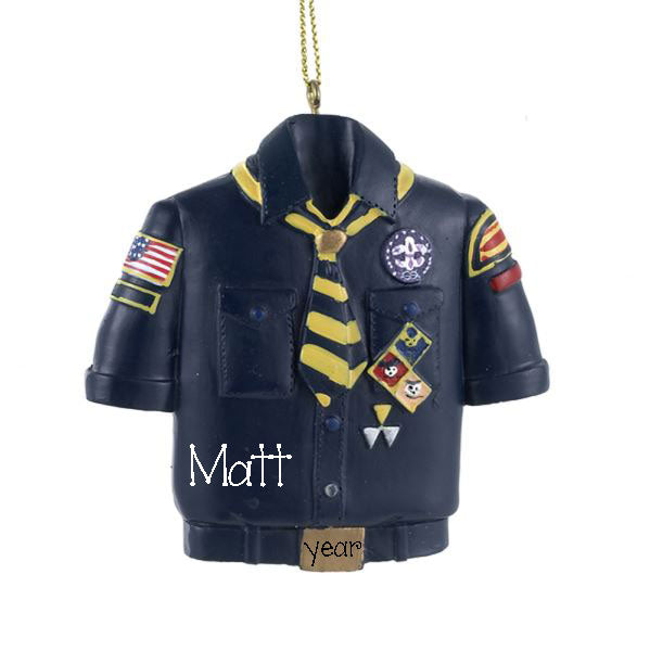CUB SCOUT UNIFORM~Personalized Christmas Ornament