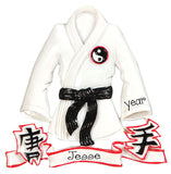BLACK BELT KARATE JACKET/MARTIAL ARTS/PERSONALIZED ORNANENT