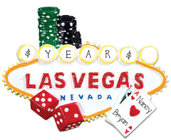 LAS VEGAS/GAMBLING/VACATION/PERSONALIZED ORNAMENT