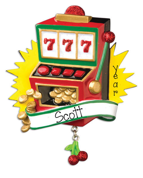 LUCKY 777 SLOT MACHINE-Personalized Ornaments