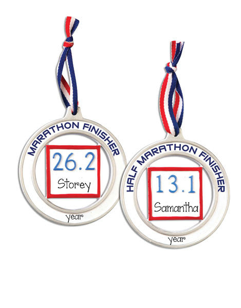 MARATHON, HALF MARATHON, MY PERSONALIZED ORNAMENTS