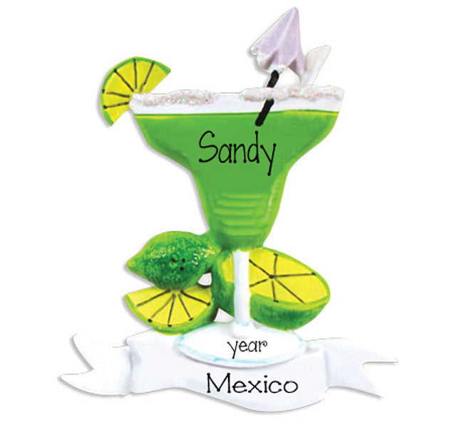 MARGARITA ~Personalized Christmas Ornament