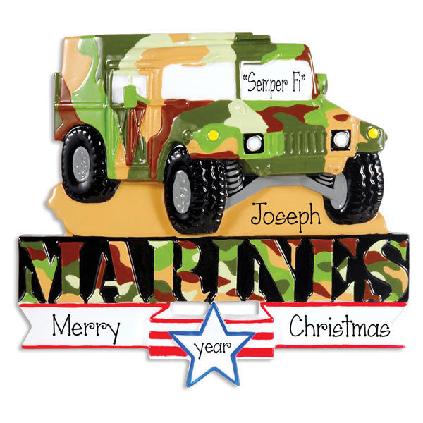 MARINE HUMVEE - Personalized Christmas ornament