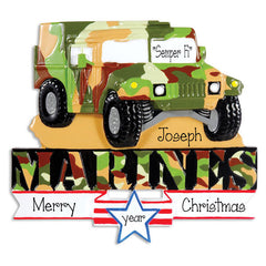 MARINE HUMVEE, MY PERSONALIZED ORNAMENTS