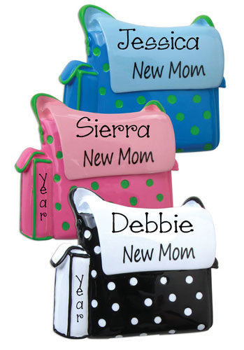 New Mom Diaper Bag-Personalized Ornament