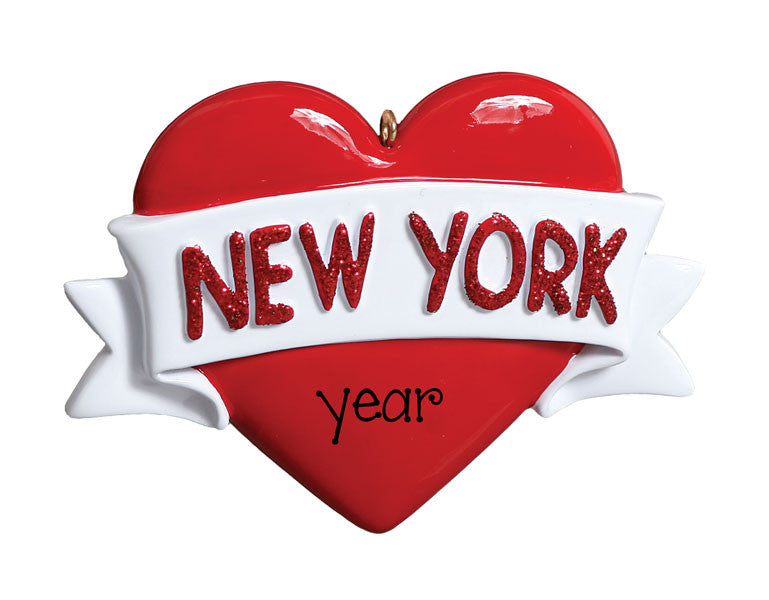 NEW YORK HEART - Personalized Ornament