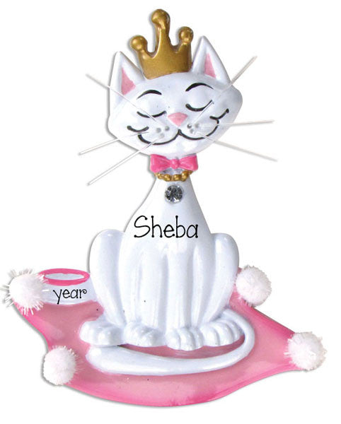 Kitty  PRINCESS - Personalized Christmas Ornament