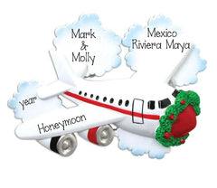 AIRPLANE/HONEYMOON/PERSONALIZED ORNAMENT