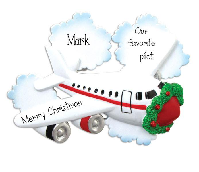 JET/AIR PLANE/PERSONALIZED ORNAMENT