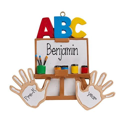 ABC~PRE-K / KINDERGARTEN-Personalized Christmas Ornament