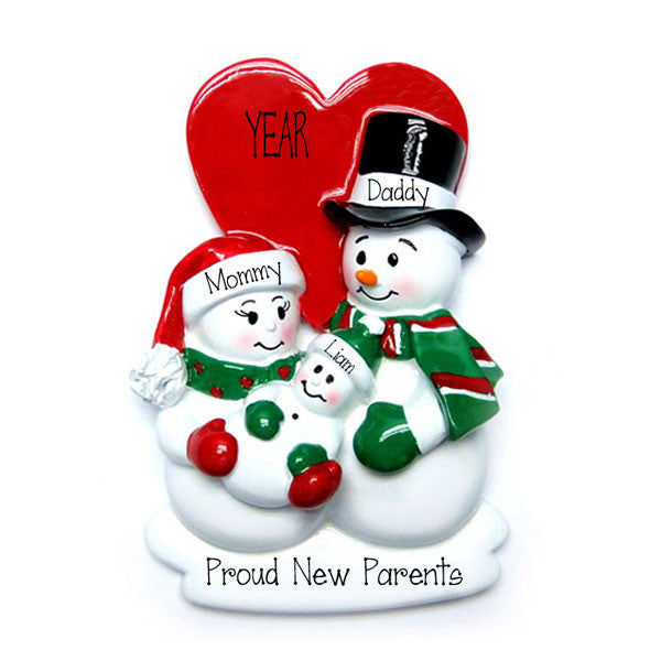 Proud New Parents~Personalized Christmas Ornament