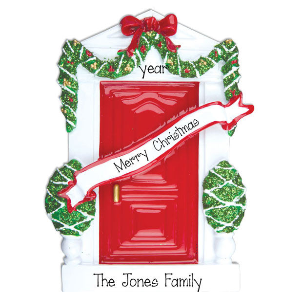 ELEGANT RED DOOR - Personalized Ornament