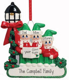 Caroler Family of 3-Personalized Christmas Ornament