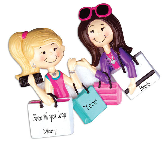 Shopping FRIENDS~Personalized Christmas Ornament