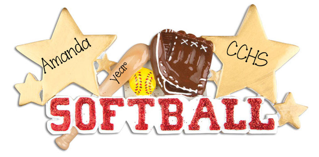 SOFTBALL - Personalized Ornament