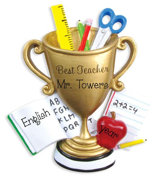 BEST TEACHER - Personalized Ornament