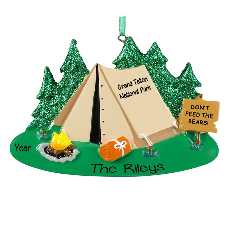 Camping Tent Personalized Ornament