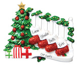 TABLETOP DECOR FAMILY OF 4 STAIRCASE / MY PERSONALIZED ORNAMENT