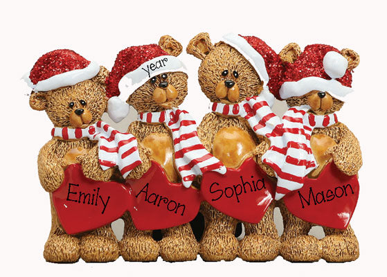 TABLETOP DECOR' Bears~Family of 4