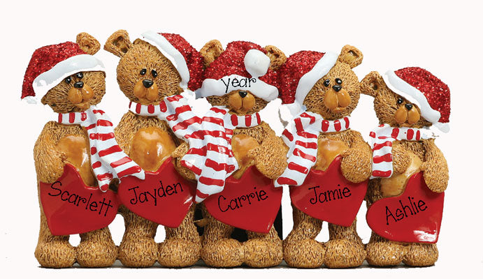 TABLETOP DECOR' Bears~Family of 5