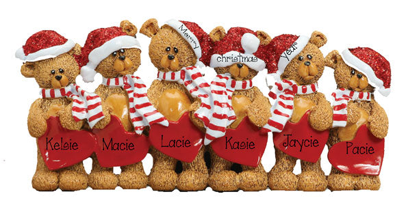 TABLETOP DECOR' Bears~Family of 6