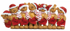 TABLETOP DECOR FAMILY OF 7 bears / MY PERSONALIZED ORNAMENT