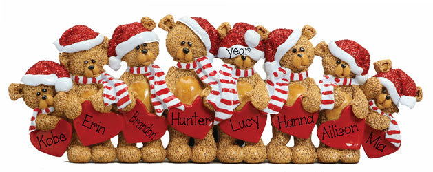 TABLETOP DECOR' Bear family of 8