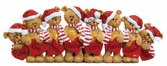 TABLETOP DECOR FAMILY OF 8 bears / MY PERSONALIZED ORNAMENT