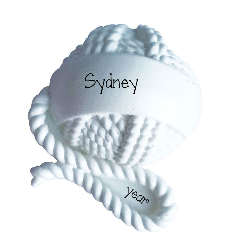 Ball of Yarn~Personalized Christmas Ornament