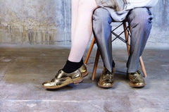 Luke Grant-Muller handmade brogues. #editorials #shooting #goldmirror #unisex #brogues #brogueshoes