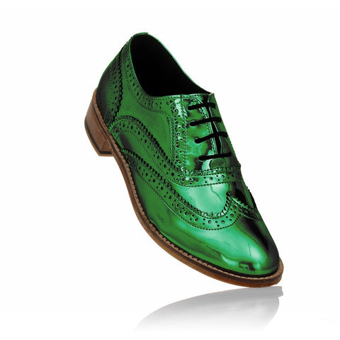 Green Brogues-formal-casual-brogues-designer-discount-mens-womens-Luke Grant-Muller
