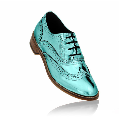 Ice Blue Brogues