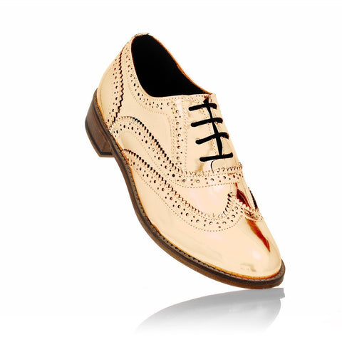 Rose Gold Brogues-formal-casual-brogues-designer-discount-mens-womens-Luke Grant-Muller