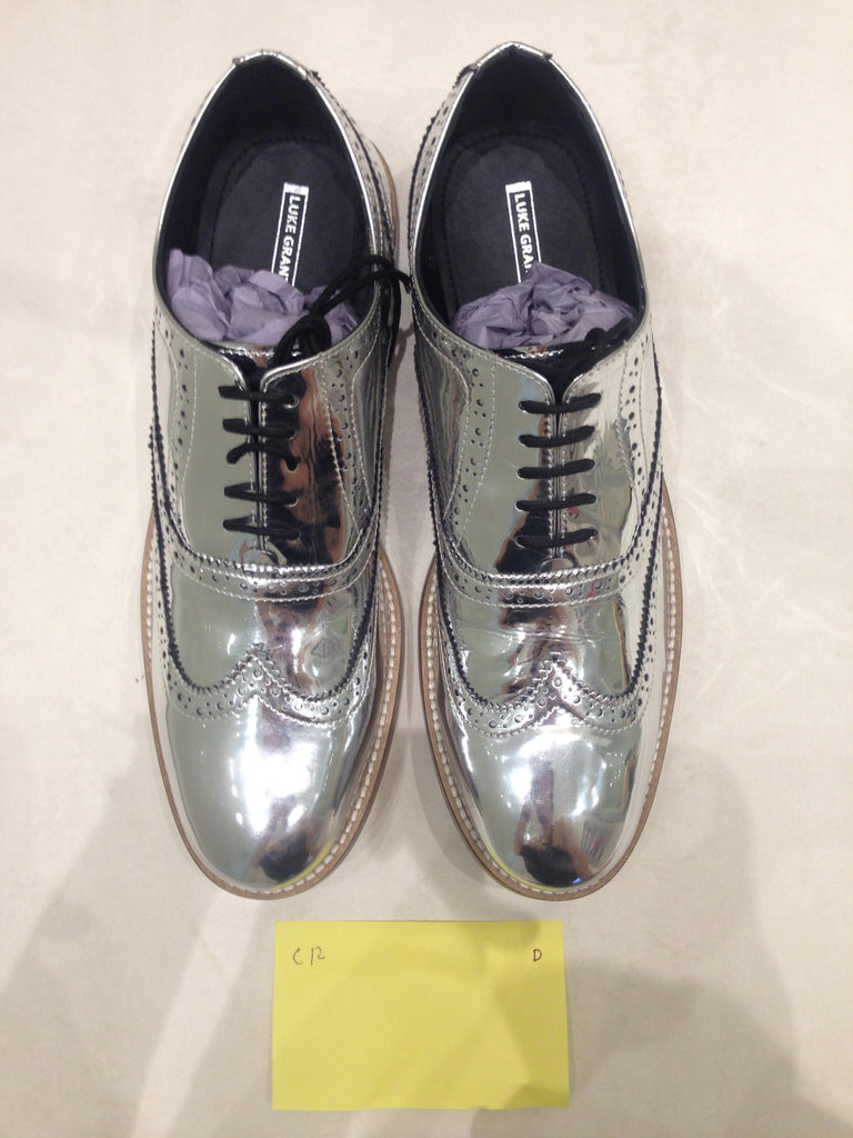 Size 12 UK Silver/mirror/chrome (sample sale) D