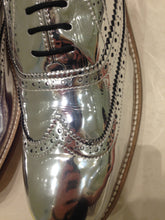 Ladies 14.5 Gents 13 US | 12 UK | 47 EU Silver/mirror/chrome (sample sale) D