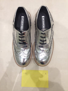Ladies 6.5 Gents 5 US Silver/mirror/chrome (sample sale) E