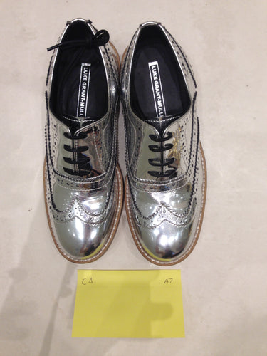 Ladies 6.5 Gents 5 US Silver/mirror/chrome (sample sale) A7